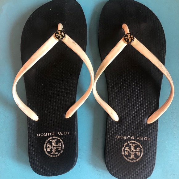 Tory Burch Shoes - Tory Burch flip flops - used